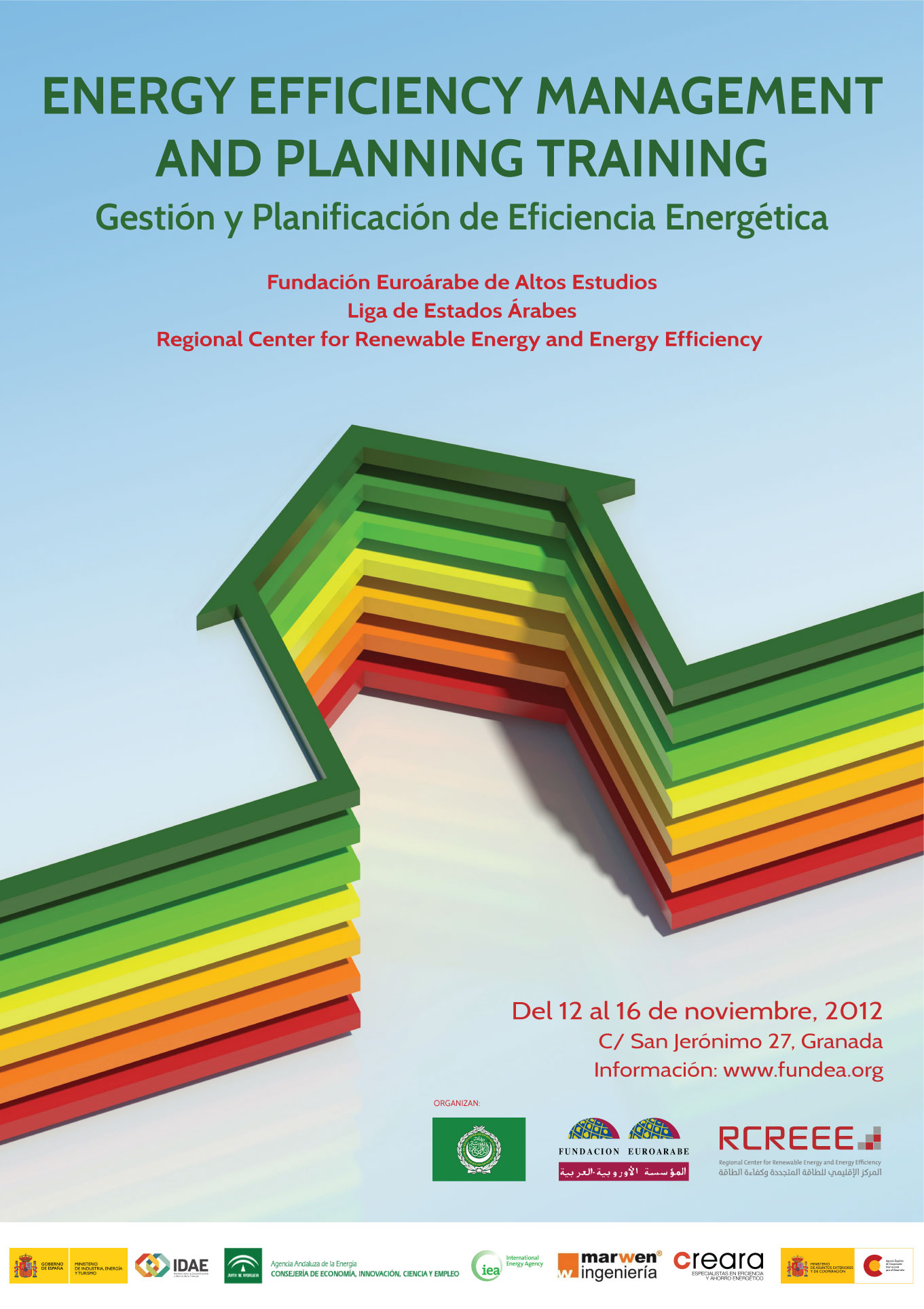 Cartel curso sobre gesti n y planificaci n de eficiencia energ tica